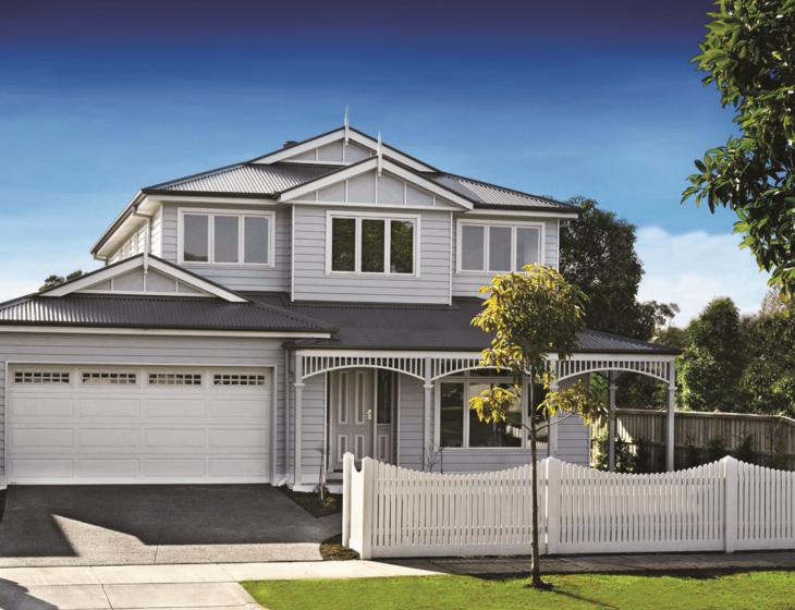 Weatherboard home Australia James hardie hampton home